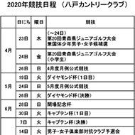 2020年競技日程